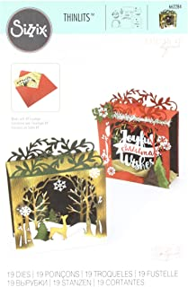 Sizzix Thinlits Die Set 662284, Holiday Shadow Box by Katelyn Lizard, 19 Pack, Multi Color, One Size,