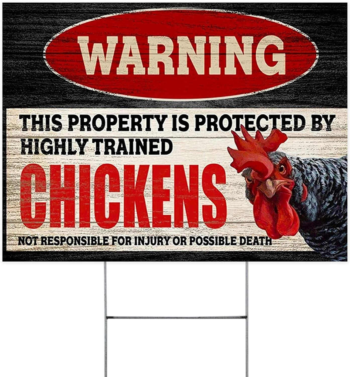 This Property is Protected by Beauty products Philadelphia Mall Sign Trained Yard Highly Chickens