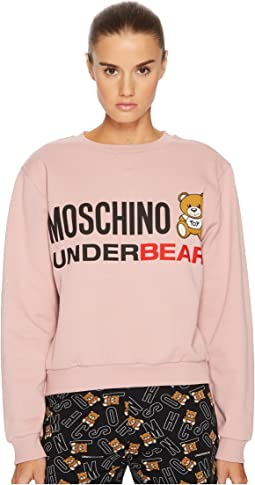 Moschino - Cotton Fleece Long Sleeve Sweatshirt