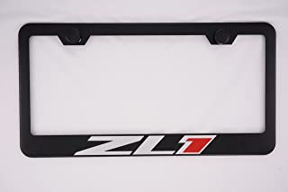 Chevy Camaro ZL1 Black License Plate Frame with Caps