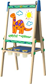 Crayola Wooden Art Easel Easel, Adjustable, Dual-Sided, Whiteboard, Chalkboard, Convenient Storage, Perfect for Little Art...