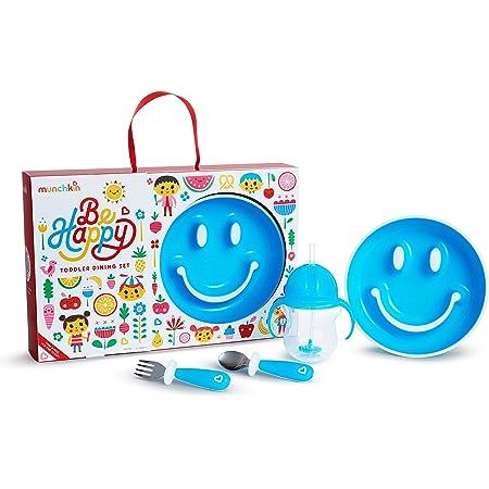 Munchkin Set De Alimentación Para Bebés Be Happy, Azul 1 unidad 710 g
