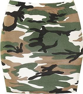 Women's Print Mini Skirt - Camouflage - 8-10