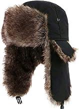 YESURPRISE Trapper Hat Warm Russian Trooper Fur Earflap Winter Skiing Hat Cap Fits Men & Women