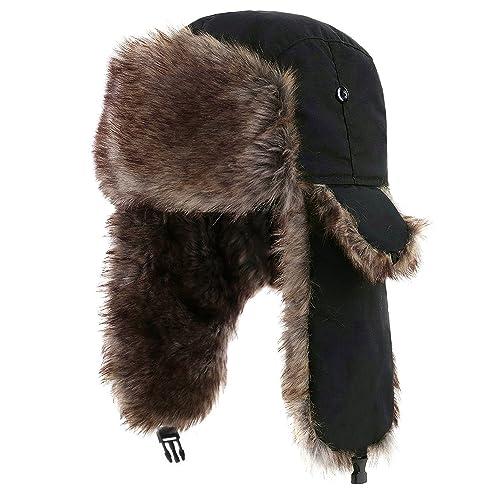 cafecca7b53 Yesurprise Trapper Warm Russian Trooper Fur Earflap Winter Skiing Warm Hat  Cap Women Men Unisex Windproof