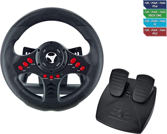 Subsonic SA5426 Racing Wheel Universal with Pedals for Playstation 4