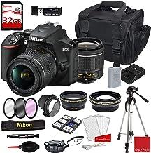 Nikon D3500 DSLR Camera with AF-P DX NIKKOR 18-55mm f/3.5-5.6G VR Lens + Deluxe DSLR Camera Case + 32GB Extreme Memory Bun...