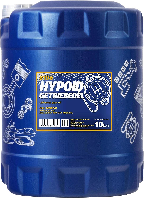 Mannol Hypoid Getriebeoel 80w 90 Api Gl 4 Gl 5 Ls 10 Liter Auto