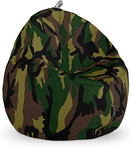 HAPPERS Pouf Enfants Imprimé Camouflage Vert