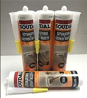 Glue10 - 4 Tubes - Universal Adhesive for Styrofoam Ceiling Tiles - pack of 4
