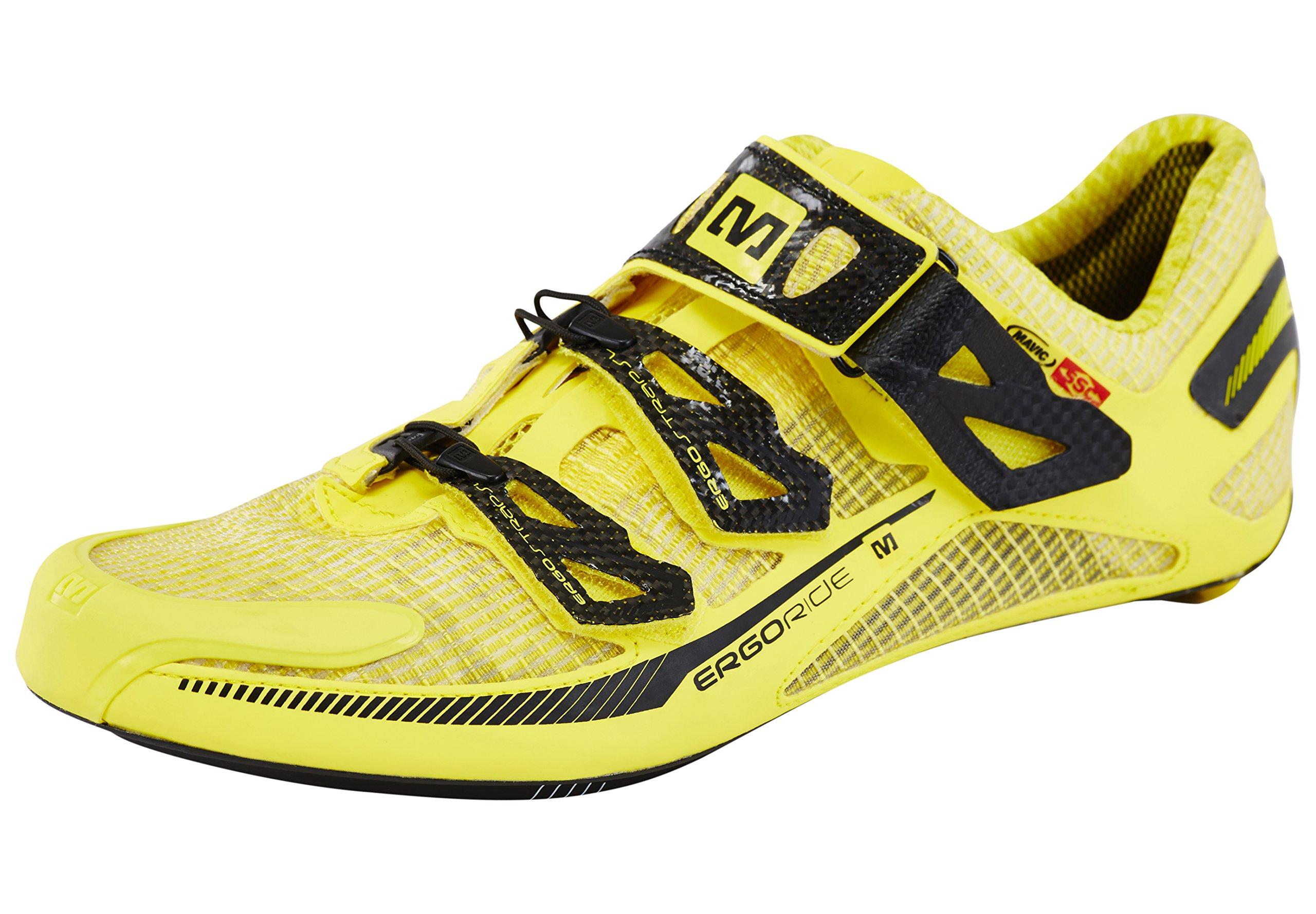 Zapatillas para Bicicleta de Carretera Mavic Huez Amarillo para 2015, Color, Talla 46: Amazon.es: Zapatos y complementos