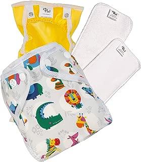 2-9 kg PSS ALL-IN-TWO Waschbare und /ökologische Windeln Made in Italy Kit mit 4 Abnehmbaren aufsaugenden Windeln und 1 oranges Kinderh/öschen