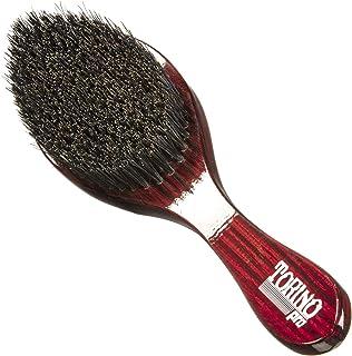 Torino Pro Wave Brush #570 By Brush King - Medium Hard Curve 360 Waves Brush - Made with Reinforced Boar & Nylon Bristles ...