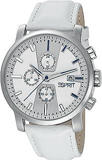 Esprit Atrium Chrono White ES104191003 - Orologio da polso da uomo, cinturino in pelle colore bianco