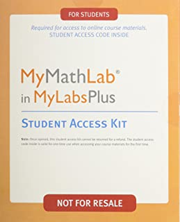 MyMathLab in MyLabsPlus, Student Access Kit