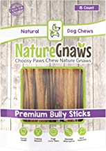Nature Gnaws Small Bully Sticks - 100% All-Natural Grass-Fed Free-Range Premium Beef Dog Chews