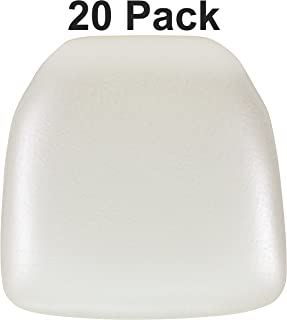 Flash Furniture 20 Pk. Hard Ivory Vinyl Chiavari Chair Cushion