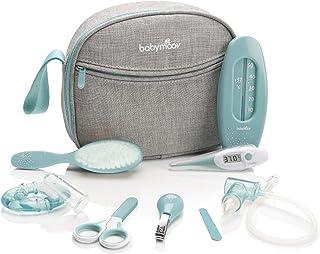BabyMoov baby-toilettas – verzorging set voor baby 's 9 4-delig, met Digitaal koortsthermometer, neuszuiger, Blauw-Turquoise