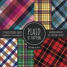 Plaid O' Pattern Scrapbook Paper Pad 8x8 Scrapbooking Kit for Papercrafts, Cardmaking, DIY Crafts, Tartan Gingham Check Sc...
