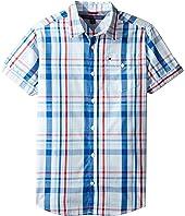 Tommy Hilfiger Kids - Corbin Short Sleeve Plaid Shirt (Big Kids)