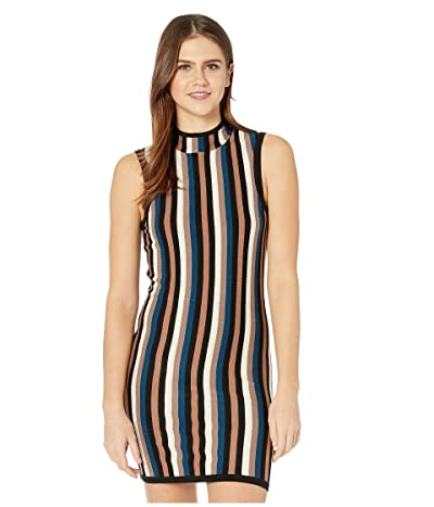RVCA Inbound Mock Neck Sweater Dress (Multi) Women