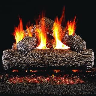 Peterson Real Fyre 16-inch Golden Oak Gas Log Set With Vented Natural Gas G45 Burner - Match Light