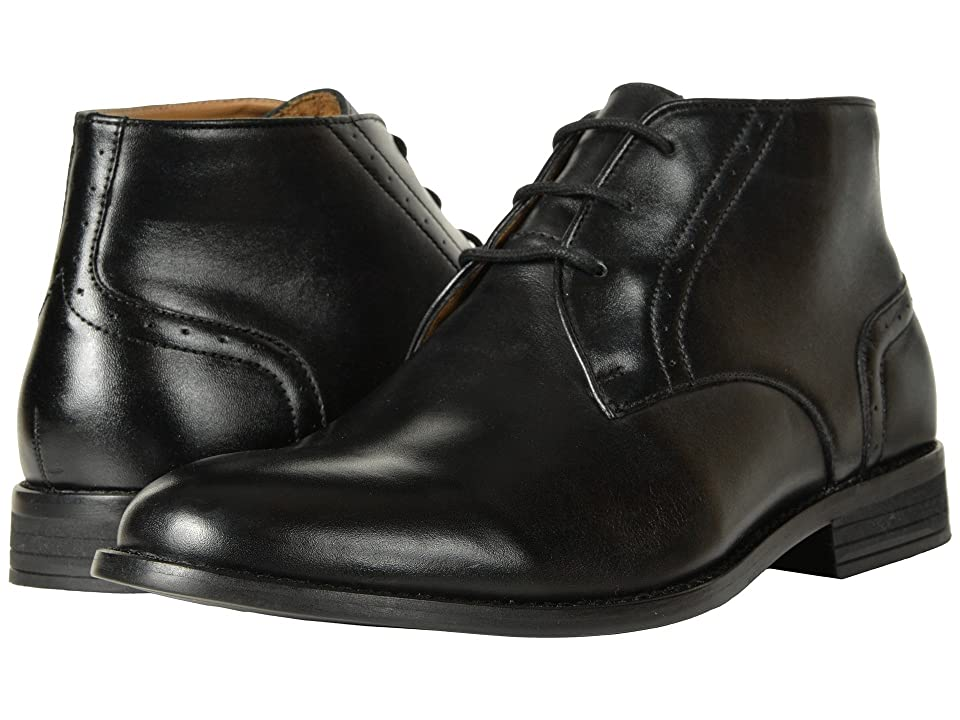 Nunn Bush Savage Plain Toe Chukka Boot (Black) Men