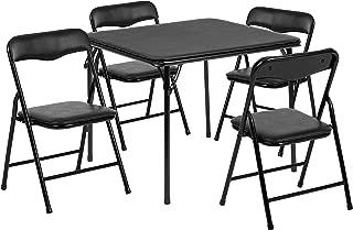 Flash Furniture Kids Black 5 Piece Folding Table and Chair Set, JB-9-KID-BK-GG