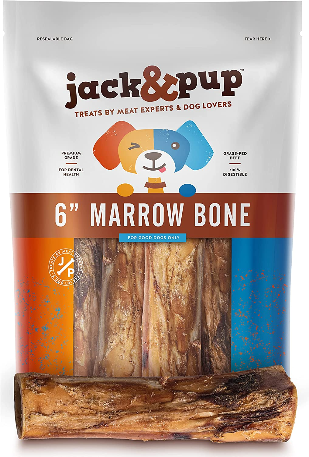 JackPup Dog Bones for Aggressive 35% OFF Grade Pack 6 Tulsa Mall Chewers Premium
