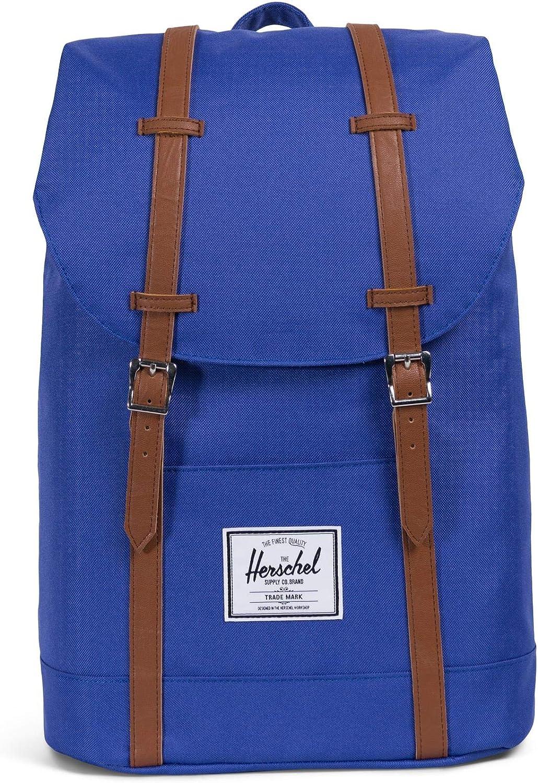 Herschel Retreat Backpack, Deep Ultramarine Tan Synthetic Leather, One Size