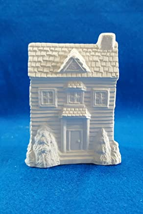 Mini 2 Story House Siding Mini Home #2 unpainted ceramic bisque ready to be painted