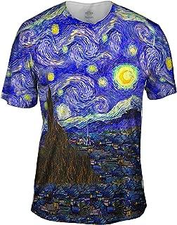 Yizzam- Vincent Van Gogh - The Starry Night -Tshirt- Mens Shirt