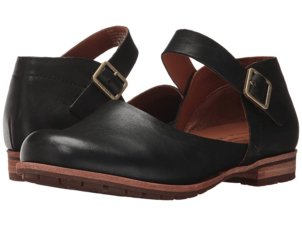 Vintage Sandals | Wedges, Espadrilles – 30s, 40s, 50s, 60s, 70s Kork-Ease Bellota Black Full Grain Leather Womens Shoes $139.95 AT vintagedancer.com