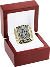 LEMOISTARS 2009 New Orleans Saints Super Bowl XLIV Champion Ring-Gold