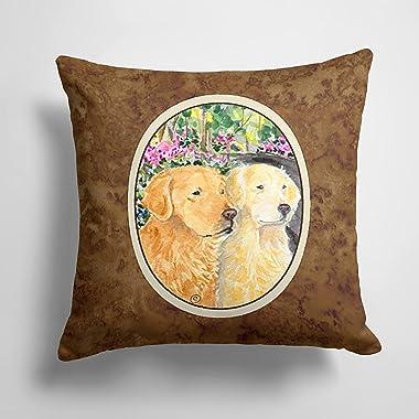 Caroline's Treasures SS8974PW1414 Golden Retriever Decorative Canvas Fabric Pillow, 14Hx14W, Multicolor