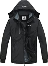 svacuam Men's Winter Hooded Outdoor Ski Jacket Windbreaker Rain Coat