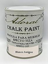 Adoral - Pintura Chalk Paint Pintura a la Tiza Decoración de Muebles (Blanco Antiguo) 750 ml