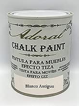 Adoral - Chalk Paint Pintura para muebles Efecto Tiza 125 ml (Blanco Antiguo)