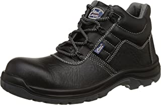 Allen Cooper AC-1266 Shock Resistant High Ankle Safety Shoe, ISI Marked for IS 15298 Pt-2, FRP Toe Cap for 200 Joules, Size 6, Black