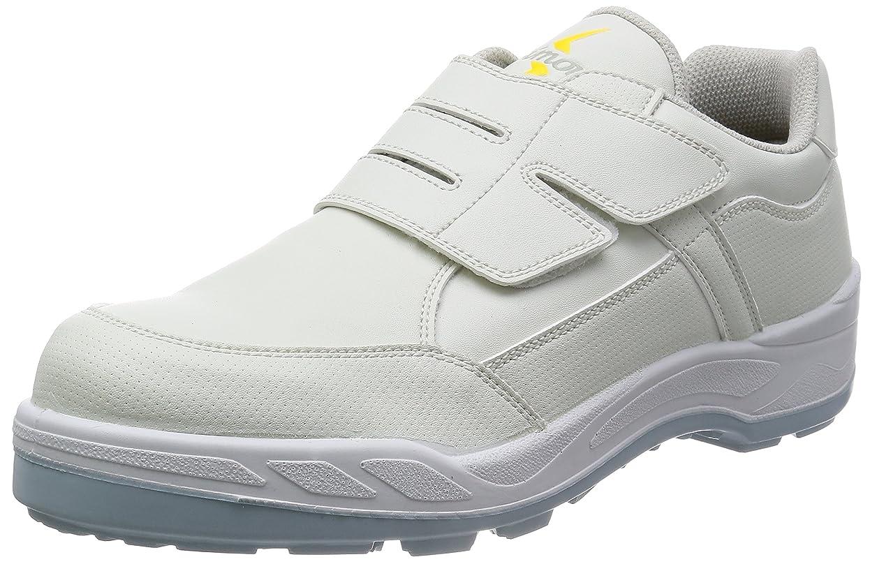 バスト側面メタン安全靴 短靴 JIS規格 マジック 耐滑 快適 静電気帯電防止 8818N白静電靴