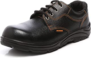 Agarson High Quality Genuine Leather Steel Toe PU Moulded Engineers/Labours Safety Shoes; 9015