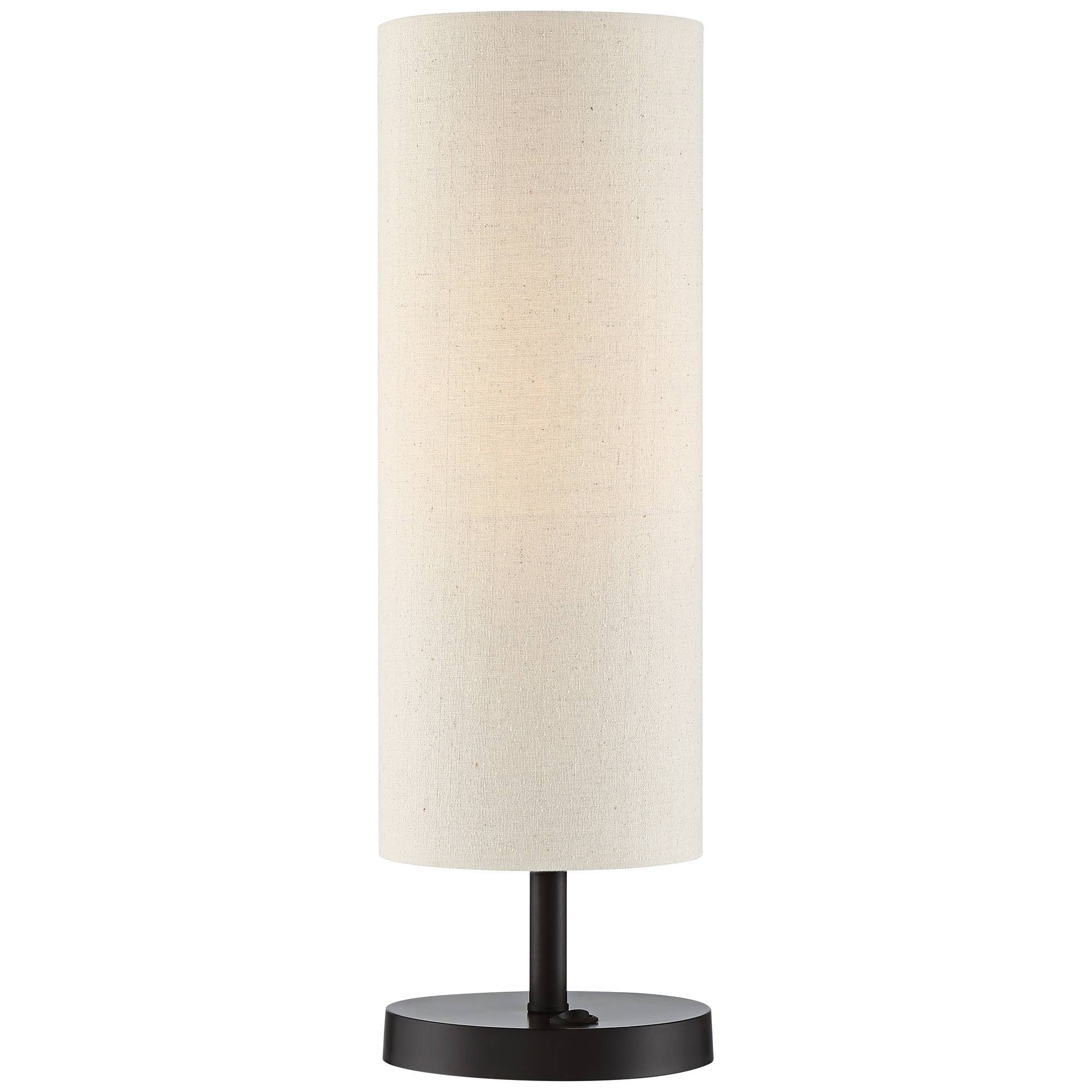 Heyburn Modern Accent Table Lamp With Hotel Style Usb And Ac Power Outlet In Base Dark