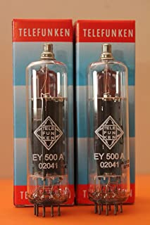 TELEFUNKEN EY500A (6EC4 6D22S) - ADD PHILIPS CODE - MATCHED PAIR - TUBE NOS