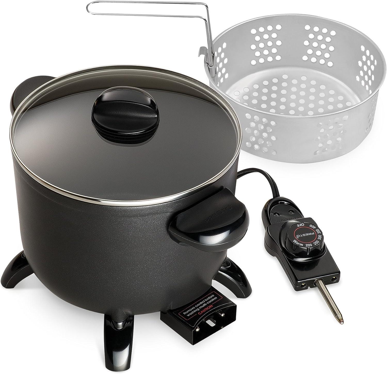Amazon Com Presto 06006 Kitchen Kettle Multi Cooker Steamer Kitchen Dining