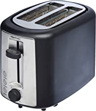 AmazonBasics 2 Slice, Extra-Wide Slot Toaster with 6 Shade Settings, Black