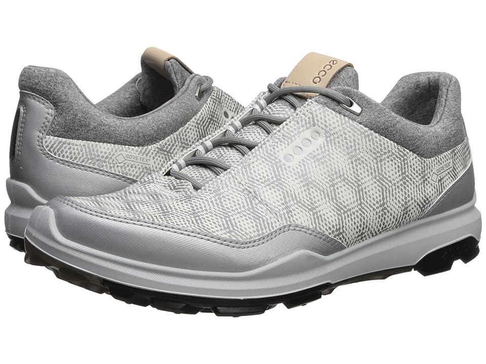 ECCO Golf Biom Hybrid 3 GTX (White/Silver Metallic) Men