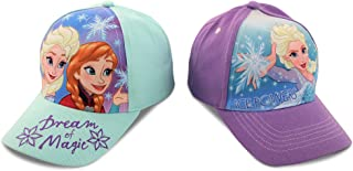 Frozen Girls 2 Pack Cotton Anna & Elsa Baseball...