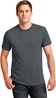 Gildan Activewear Ultra Cotton Tee Shirt, 2XL, Dark Heather