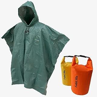Frogg Toggs Ultra-Lite Packable Poncho 2 Floating Waterproof Dry Bags Bundle
