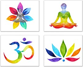 Om/Chakra/Zen/Yoga Powerful Pieces of Photo Art-Set of 4 (Unframed): Peace,Balance, Healing Through Images of Mystical Journeys with Energy to Enlightenment (8